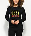Obey Main Street Black Long Sleeve T-Shirt