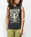 Obey Make Art Not War Chrisse Moto Black Tank Top