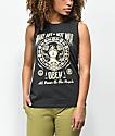 Obey Make Art Not War Chrisse Moto camiseta negra sin mangas