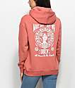 Obey Make Art Not War Rose Hoodie
