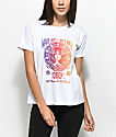 Obey Make Art Not War camiseta blanca con corte cuadrado