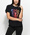 Obey Make Art Not War camiseta negra con corte cuadrado