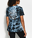 Obey Mira Rosa Dusty Black Tie Dye T-Shirt