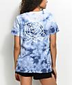 Obey Mira Rosa camiseta con efecto tie dye en azul