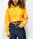 Obey Mira Rosa sudadera corta con capucha dorada