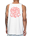 Obey Mira Rose White Tank Top