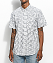 Obey Monty Paisley Printed White Short Sleeve Button Up Shirt