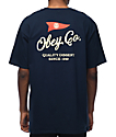 Obey Nautical camiseta en azul marino