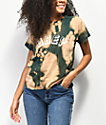 Obey New World Box Bleached Dark Green T-Shirt