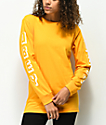 Obey New World Golden Yellow Long Sleeve T-Shirt