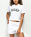 Obey New World White Mock Neck Crop T-Shirt