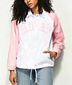 Obey New World chaqueta entrenador en rosa y blanco