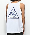 Obey Next Round 2 White & Navy Tank Top