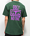 Obey No One Forest camiseta verde