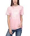 Obey Nobodys Flower camiseta rosa