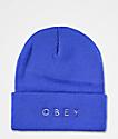 Obey Novel 2 Blue Beanie