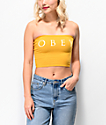 Obey Novel 2 Mustard Yellow Tube Top