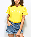 Obey Novel 2 Yellow T-Shirt