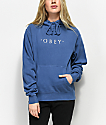 Obey Novel Dusty Navy Hoodie
