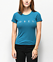 Obey Novel Surf camiseta encogida azul