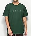Obey Novel camiseta verde oscuro