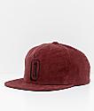 Obey Outlaw Burgundy Corduroy Snapback Hat