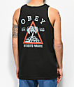 Obey Outsiders Paradise Black Tank Top