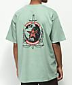 Obey Peace & Justice camiseta de color salvia