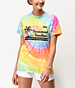 Obey Permanent Vacation Multicolor Tie Dye T-Shirt