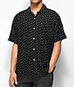 Obey Pumps Black & White Short Sleeve Button Up Shirt