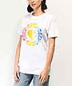 Obey Rainbow Heart White T-Shirt