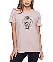 Obey Reaper Skull Dusty Rose T-Shirt