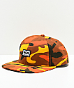 Obey Resist Orange Camo Snapback Hat