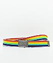 Obey Rising cinturón tejido de  arcoíris