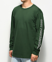 Obey Rough Draft Forest Green Long Sleeve T-Shirt
