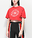 Obey Rue De La Ruine Red Crop T-Shirt