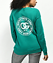 Obey Rue de La Ruine Delancy Green Crew Neck Sweatshirt