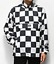 Obey Runaround Eyes Black & White Checkered Anorak Jacket