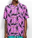 Obey Salazar camisa morada de manga corta