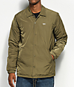 Obey Sanction Army Green Puffy Coaches Jacket