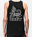 Obey Scorpion Rose Black Tank Top