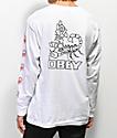 Obey Scorpion Rose White Long Sleeve T-Shirt