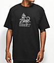 Obey Scorpion Rose camiseta negra