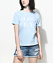 Obey See Clearly Shrunken camiseta azul