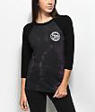 Obey Since 89 camiseta raglán de manga larga con efecto tie dye