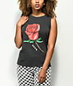 Obey Slauson Rose 2 Black Moto Tank Top
