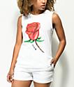 Obey Slauson Rose 2 Moto camiseta blanca sin mangas