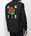 Obey Spider Rose chaleco negro
