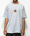 Obey Star Face Heather Grey T-Shirt