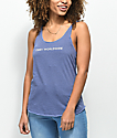 Obey Static Worldwide Blue Track Tank Top